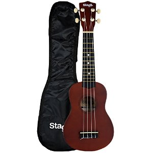 5.Stagg US10 Traditionelle Sopran-Ukulele